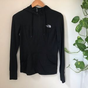 Black running hoodie the North Face